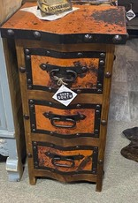 Copper 3 Drawer Accent Table