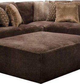 "Jackson Furniture Mammoth 51"" Cocktail Ottoman - Chocolate"