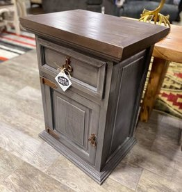 Concealed Compartment Nightstand/End Table - Gray
