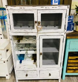 Old Door Wine Rack - Dist White
