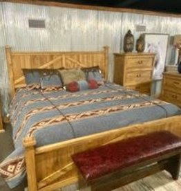 Farmhouse King Bed Set - Honey