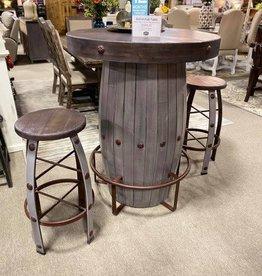 Barrel Pub Table - Gray