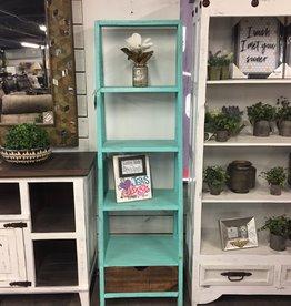 Ladder Bookcase - Aqua