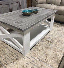 Angelina Coffee Table - White / Oxford