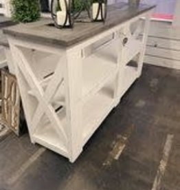 Angelina Sofa Table - White / Oxford