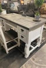 Santa Rita Desk - White/Oxford