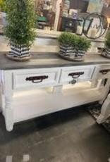 Lyon Sofa Table - White / Oxford