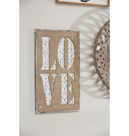 Metal and Wood Love Wall Decor
