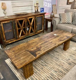 Old Oak Floor Coffee Table