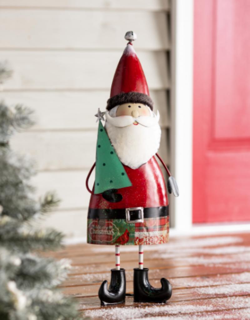Indoor/Outdoor Vintage Metal Holiday Santa