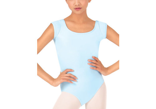 Baltogs Cap Sleeve Leotard with Back Detail