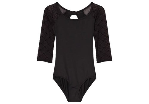 Bloch Flock Heart Keyhole 3/4 Leotard