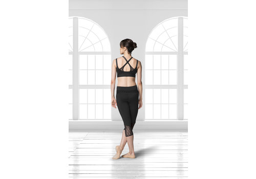 Bloch Diamond Mesh Capri Legging