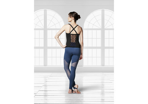 Bloch Diamond Flock Mesh Fitted Top