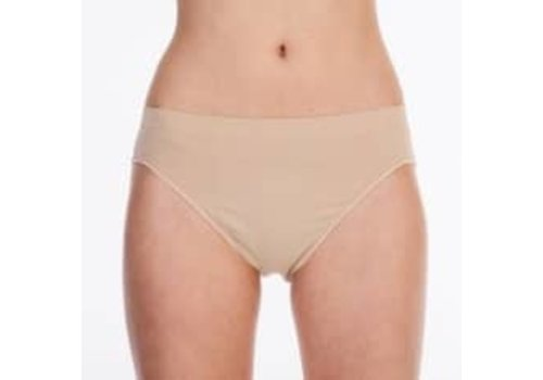Silky Seamless High Cut Brief Beige