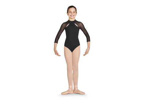 Bloch Diamante Open Back 3/4 Sleeve Leo