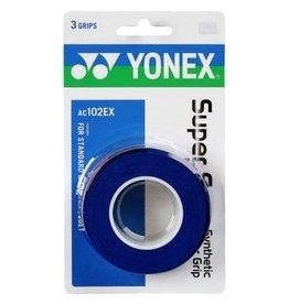 Yonex YONEX SUPER GRAP 3 PACK DEEP BLUE