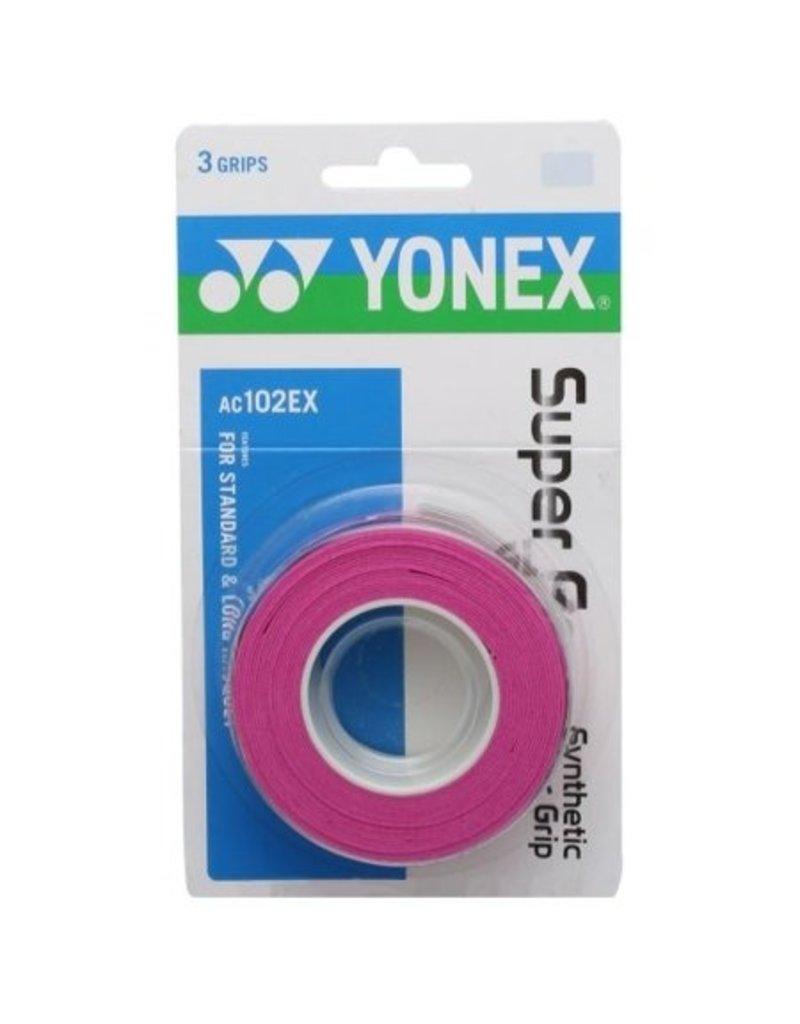 Yonex YONEX SUPER GRAP 3 PACK PINK