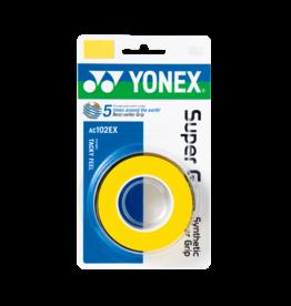 Yonex YONEX SUPER GRAP 3 PACK YELLOW