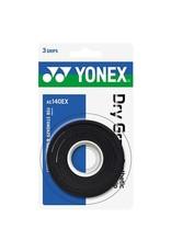 Yonex YONEX SUPER DRY GRAP 3 PACK BLACK
