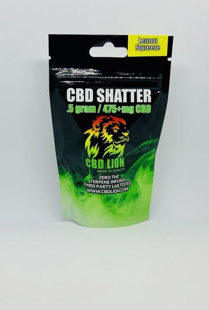 CBD Lion Shatter Lemon Squeeze .5gm