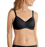Amoena Lara Satin Padded Wire-Free Bra - Black 44212