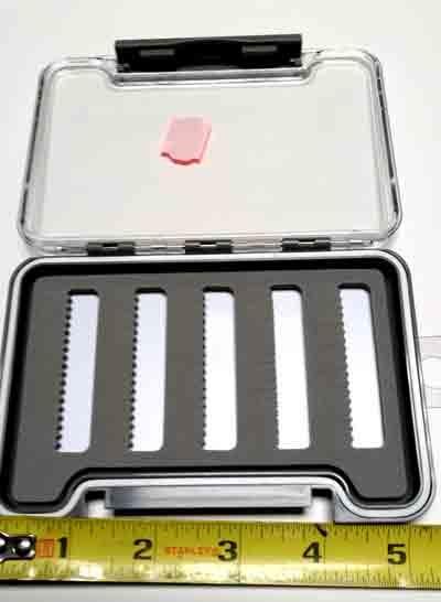 BTI Sports Slim Slotted Foam Dry Fly Box  5 x 3 1/2 inch