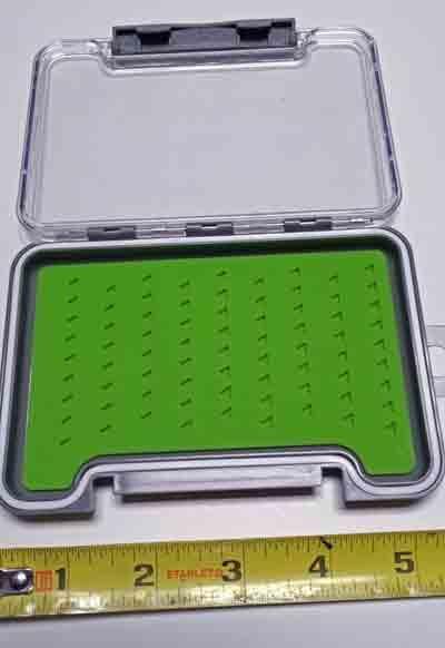 BTI Sports Super Slim Silicone Fly Box Nymph / Midge 5x3 1/2 inch