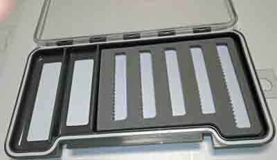 BTI Sports Slim Magnetic / Slit Foam Dry Fly Box - 7 1/2 x 4 inch