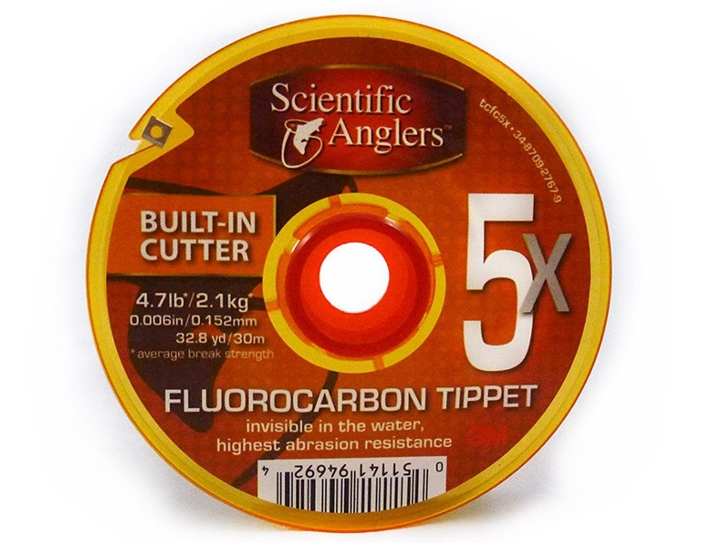 Scientific Anglers Scientific Anglers Fluorocarbon Tippet Freshwater/Saltwater Clear 30 Meters With Cutter