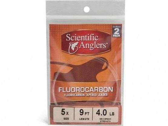 Scientific Anglers Fluorocarbon Leaders 9' Freshwater/Saltwater 2 Pack