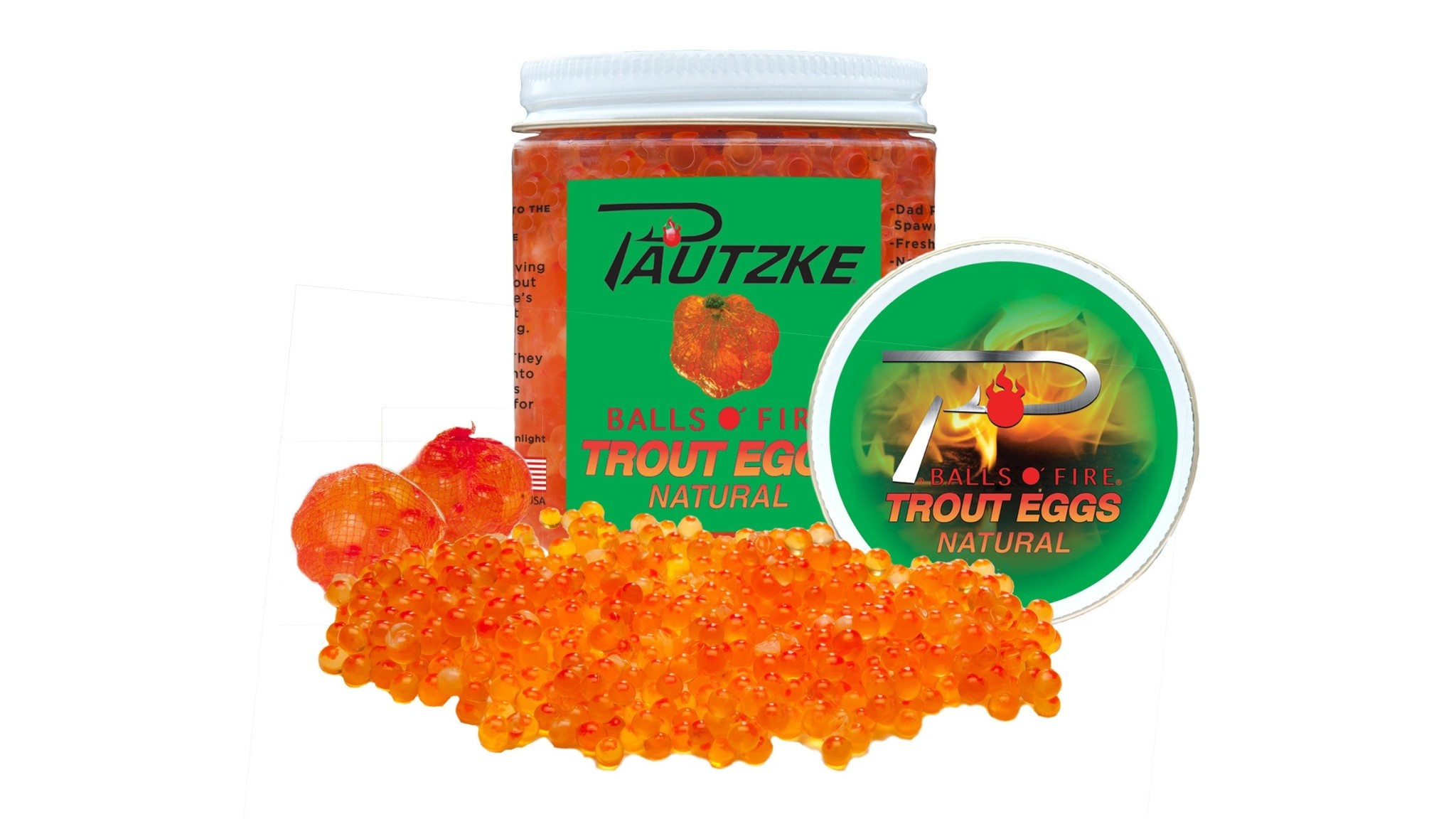 Pautzke Pautzke PTRT/NAT BALLS O' FIRE - Trout Eggs, Natural, Can be colored