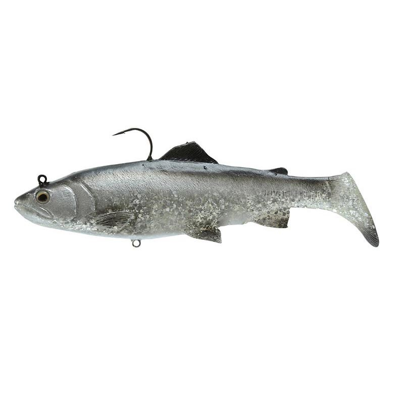 """Savage Gear Savage Gear RT-SB-170-DS 3D Real Trout Swimbait, Dirty Silver, 7"""", 2"""