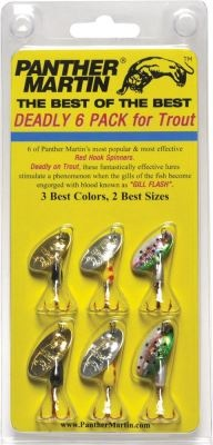 Panther Martin Panther Martin Best of the Best Deadly 6 pack with Red Hooks