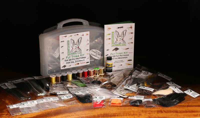 Hareline HARELINE FLY TYING MATERIAL KIT WITH ECONOMY TOOLS AND VISE