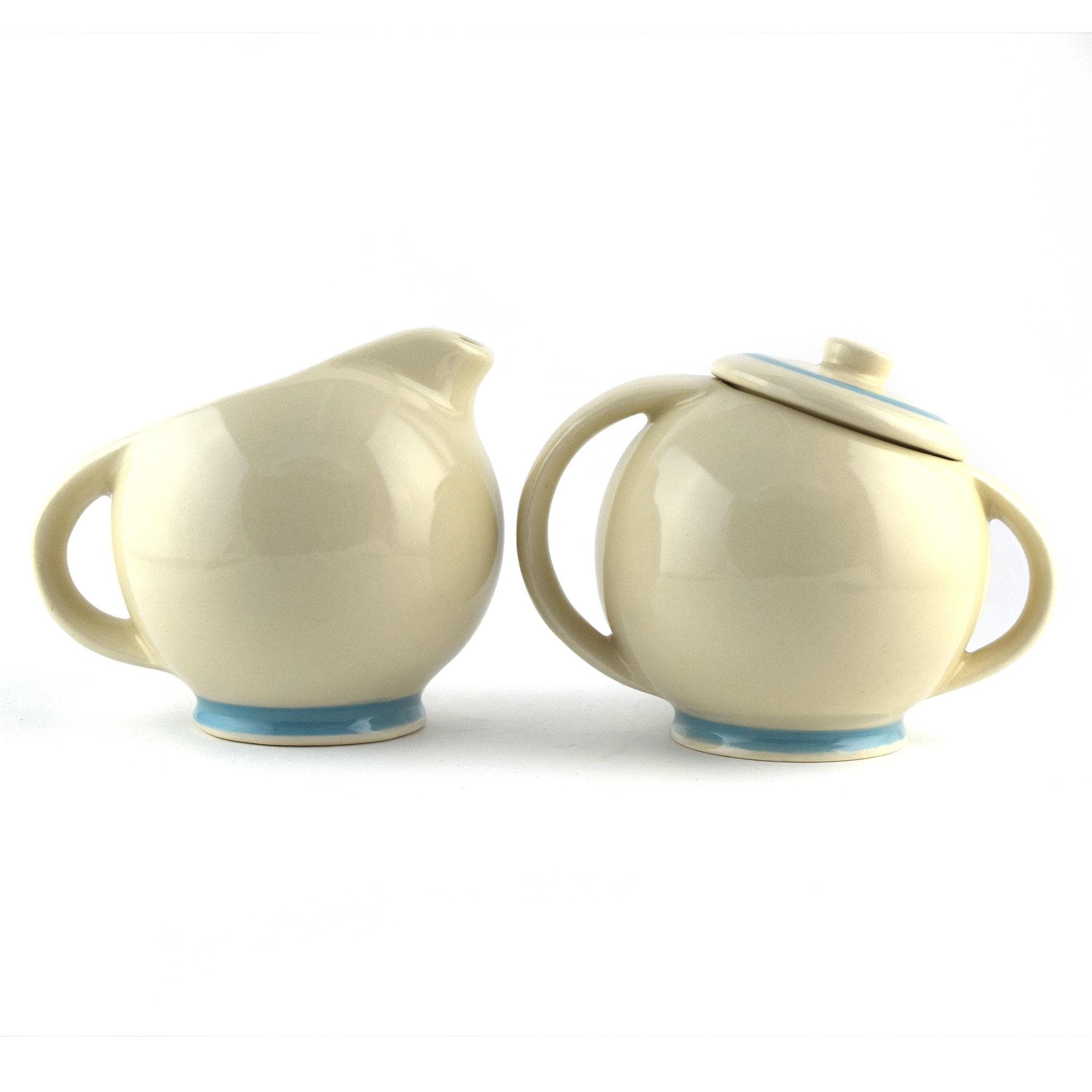 Medalta Ware Reproduction Slanted Cream & Sugar Set