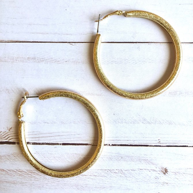Morgan Claire Textured Gold Hoops