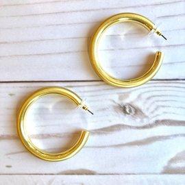 Morgan Claire Matte Gold Hoop Earring