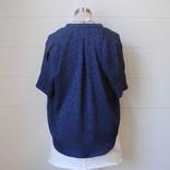 Morgan Claire Silk tone on tone pattern top