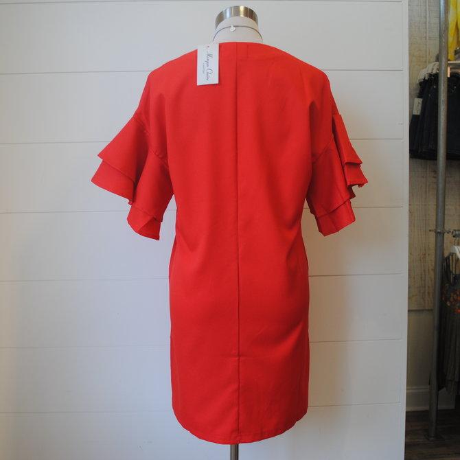Morgan Claire Ruffle Sleeve Dress