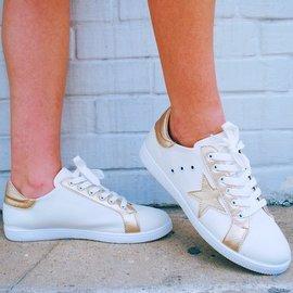 Morgan Claire ARIA Gold Star Sneaker