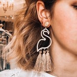 Morgan Claire Flamingo Post Statement Earring