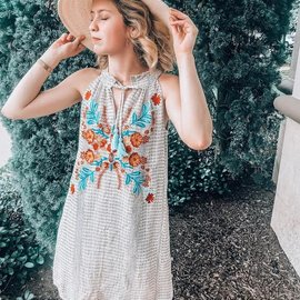 Morgan Claire Embroidered Floral Patterned Dress