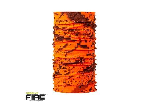 HUE386-HUNTERS ELEMENT KAYAN NECK GAITER DESOLVE FIRE