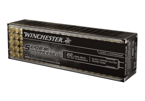 WIN029-WINCHESTER SUPER SUPPRESSED 22LR 45GR BCPRN 1090FPS 100RNDS