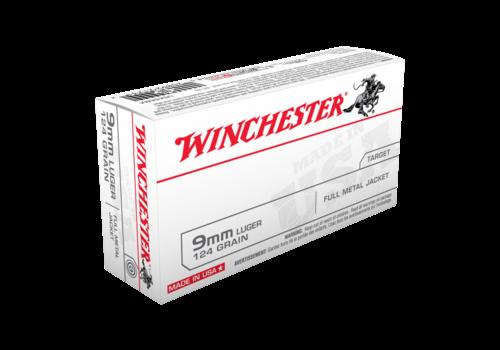 SLAB- WIN166-WINCHESTER USA VALUE PACK 9MM 124GR FMJ 500RNDS