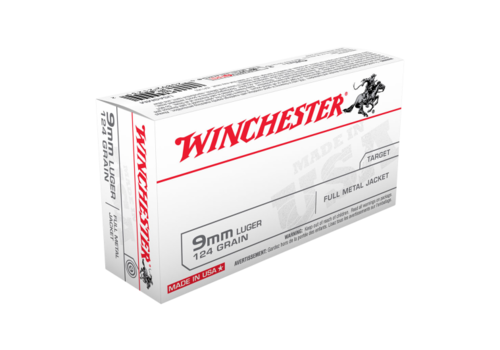 WIN166-WINCHESTER USA VALUE PACK 9MM 124GR FMJ 50RNDS