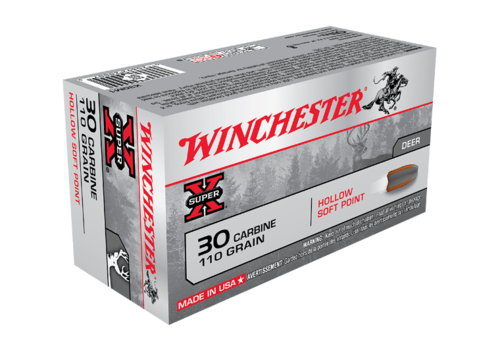 WIN1292-WINCHESTER SUPER X 30 CARBINE 110GR HSP 50RNDS