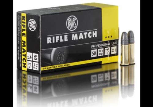RWS RIFLE MATCH 22LR 40GR 50RNDS (OSA2509)