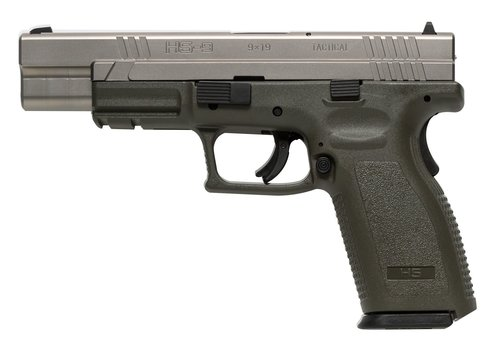 HS PRODUCT HS-9 STAINLESS 9 MM GREEN (SJS007)